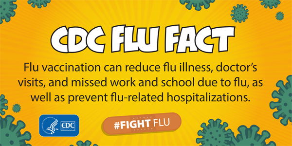 flu vaccination reduction facts