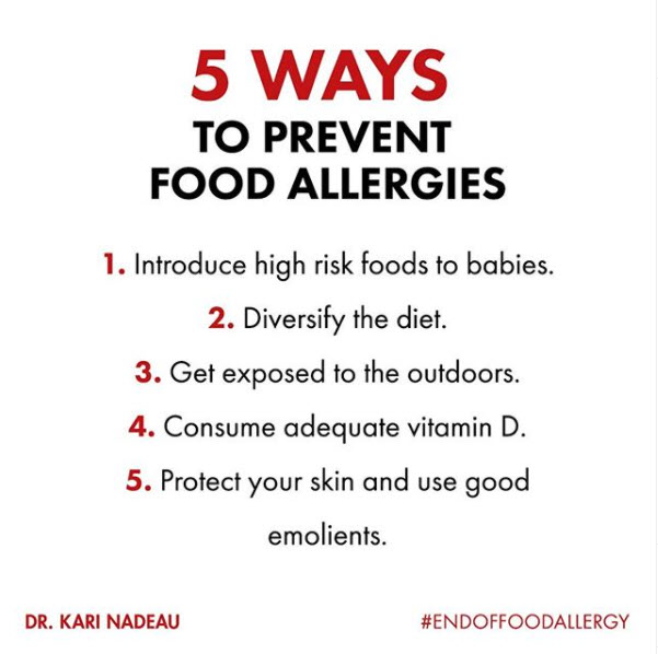5 ways to prevent food allergies