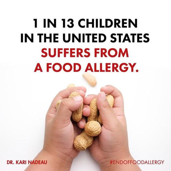 1 in 13 children have food allergies